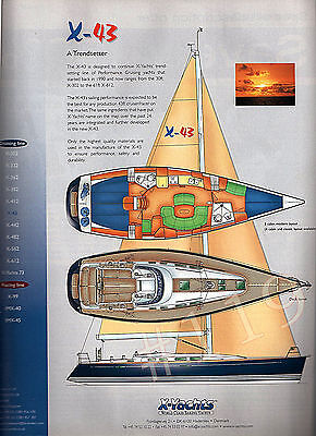 X-43 Yacht ADVERT - 2003 Advertisement by X-Yachts X43