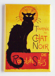 Chat Noir FRIDGE MAGNET black cat poster tournee france