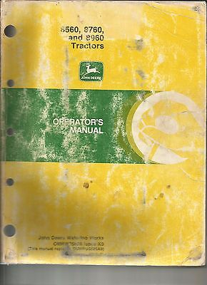John Deere 8560 8760 And 8960 Tractors Operators Manual