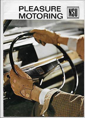 1967 NSU brochure:NSU Prinz 4, Prinz 1000/TT, Typ 110, Spider, Sport Prinz Coupé