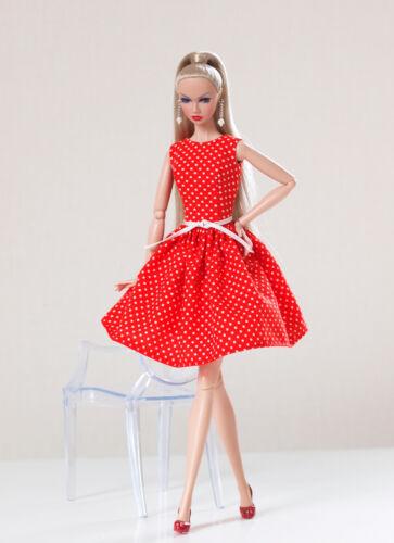 Red polka dot dress for Poppy Parker, Nu face by Olgaomi
