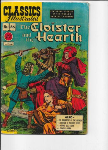 Classics Illustrated  #66  HRN 67 The Cloister and the Hearth  1st prt   Keifer