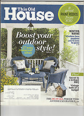 This Old House Magazine June 2013 Back Issue Free Shipping