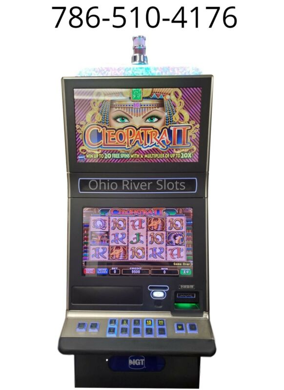 IGT G23 SLOT MACHINE Cleopatra 2 (TICKET PRINTER, COINLESS)