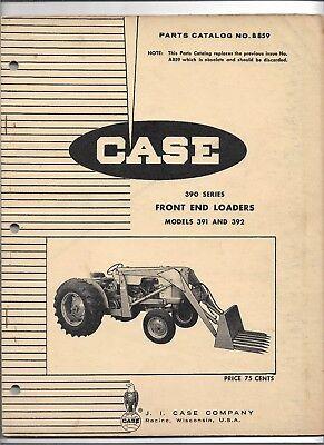 Original 4-69 Oe Oem Case 391 And 392 Front End Loader Parts Catalog Number B859