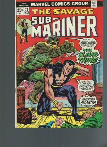 Sub-Mariner #72 (Sep 1974, Marvel) VF 8.0 Last Issue