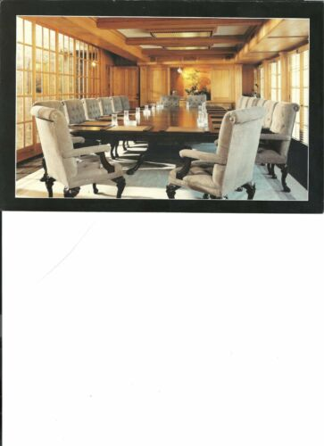 Elegant conference room / dining room chairs of solid walnut & leather