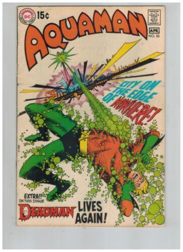 Aquaman 50 w Mera & Aqualad!  Ocean Master! Neal Adams Deadman Fn+ 1970 DC Comic