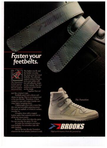 "1983 Brooks ""The Transition"" Basketball  Shoe Vintage Print Advertisement"
