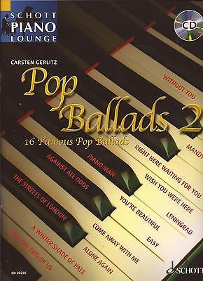 Klavier Noten- POP BALLADS 2 -mit CD - 16 beliebte, leicht zu spielende Balladen