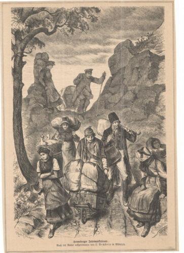 BECHSTEIN L. - HENNEBERGER  Jahrmarktsleute - Illustration alter Druck - um 1880
