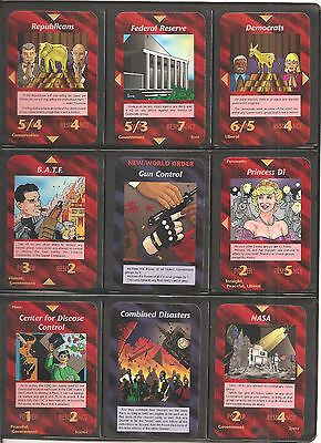 All 100 Uncommon Set   Unlimited   Illuminati Inwo Card Game   New World Order
