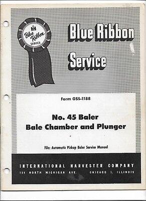 Original International 45 Baler Bale Chamber And Plunger Service Manual Gss-1188