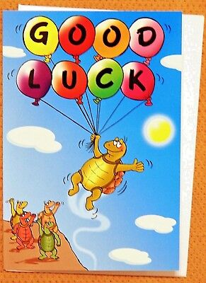 Good Luck Wishes Cards - Humorous Funny Good luck card ~ Best Wishes Balloons Design Card