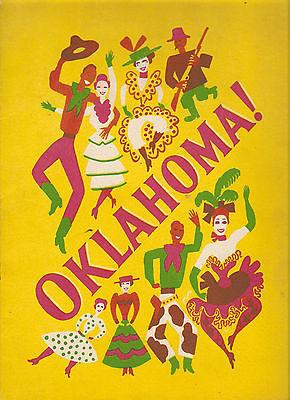 OKLAHOMA ! 1945 PROGRAM Theatre Guild National Company GREAT CAST PHOTOS