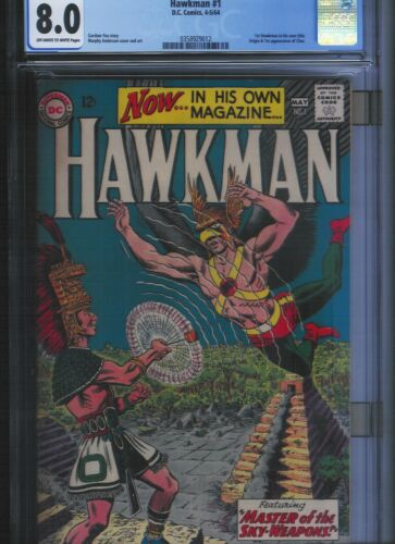 Hawkman # 1 CGC 8.0  Off White to White Pages. UnRestored.
