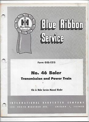 Original International 46 Baler Transmission Power Train Service Manual Gss-1215