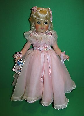 "RARE 1950's Arranbee R&B 17"" Debuteen Doll in Exquisite Original Pink Gown!"