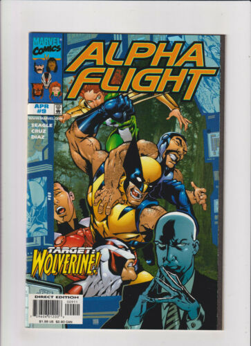 Alpha Flight #9 NM- 9.2 Marvel Comics Canadian X-Men 1998, Wolverine app.