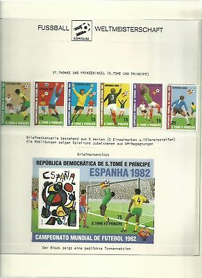 Soccer, Football Collection Lindner Hingless Album, 40 Pages, Mint NH 1982 (A)