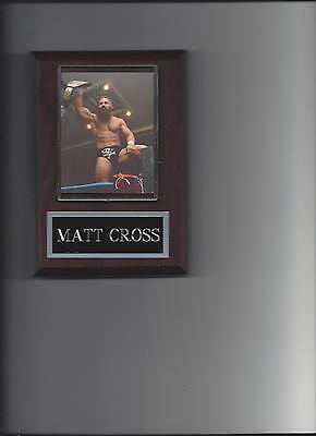 MATT CROSS PLAQUE WRESTLING WWE ECW NWA WITH BELT