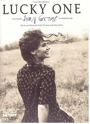 """AMY GRANT """"LUCKY ONE"""" SHEET MUSIC-PIANO/VOCAL/GUITAR-EXTREMELY RARE-NEW ON SALE!"""