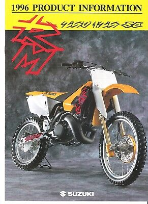 Suzuki RM Models 1996 Product Information RM250 RM250T RM125  RM125T  RM80 RM80T