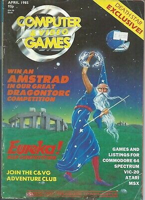 Computer Games - Computer video games magazine April 1985 commodore codes reviews ads