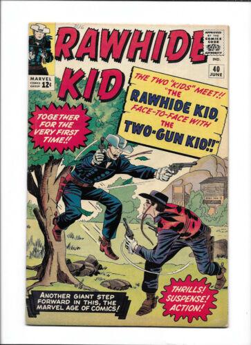 RAWHIDE KID #40 [1964 VG+] TWO-GUN KID APP!