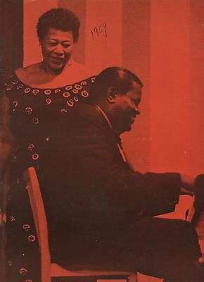 1959 Program Norman Gantz Presents Ella Fitzgerald & The Oscar Petterson Trio