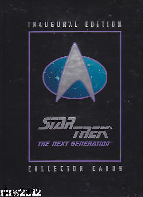 STAR TREK 1992 IMPEL/SKYBOX THE NEXT GENERATION INAGURAL FACTORY BINDER NO CARDS