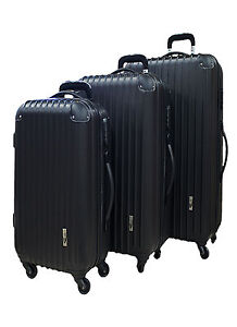 NEW NEO EAZY TRAVEL ABS PLASTIC HARD CASE SUITCASE LUGGAGE CABIN TRAVEL BAG SET