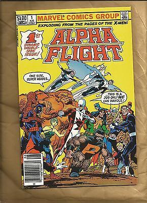 Alpha Flight  1 vfn- 1983 ND John Byrne Marvel Comics barcode newsstand cover