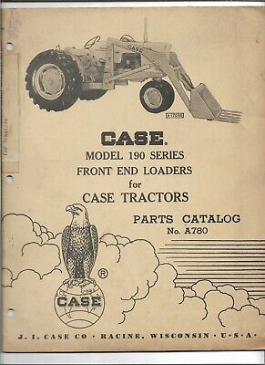 Original 101959 Oem Oe Case 190 Series Front End Loaders Parts Catalog A780