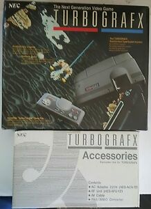 NEW Never used Turbo Grafx 16 PAL Console  ( NOT FOR USA & CANADA) Good box