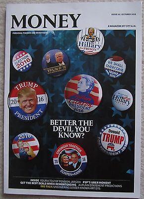 Donald Trump / Hillary Clinton–City A.M. Money Magazine – October 2016