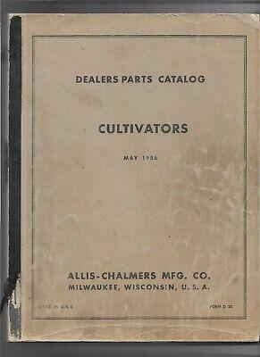 May 1956 Original Allis Chalmers Cultivators Dealer Parts Catalog Number D-20