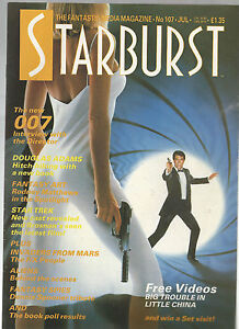 STARBURST-MAGAZINE-No-107-JAMES-BOND-007-DOUGLAS-ADAMS-SUPERMAN-IV