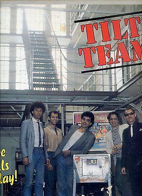 TILT TEAM five balls in play BLUESROCK HOLLAND 1982 RARE