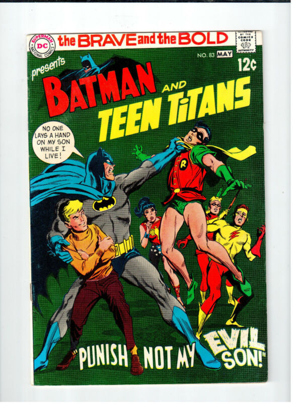 DC - BRAVE AND THE BOLD Batman & Teen Titans #83 - FN/VF May 1969 Vintage Comic