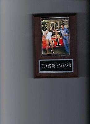 DUKES OF HAZZARD PLAQUE TV CAST BO LUKE DAISY DUKE GENERAL LEE