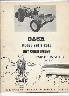 Original Oem Oe 041962 Case 226 2 Roll Hay Conditioner Parts Catalog No. 827