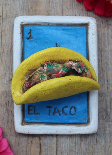 Clay Loteria #1 El Taco by Rafael Pineda Mexican Board Game Folk Art Jalisco