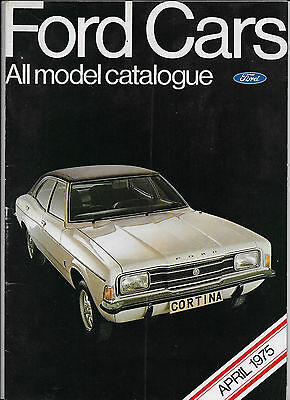 1975 Ford UK brochure: Ford Escort Mk.2, Cortina Mk.3, Capri II, Consul, Granada