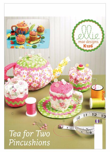 Kwik Sew SEWING PATTERN K126 Teapot,Teacup & Cupcake Pincushions