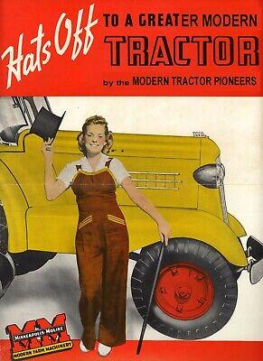 1950 Minneapolis-moline Comfort Modern Tractor Brochure