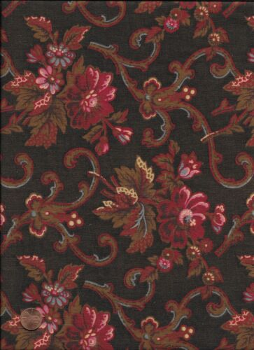 Antique 1870 Bouquets and Scrolls Fabric