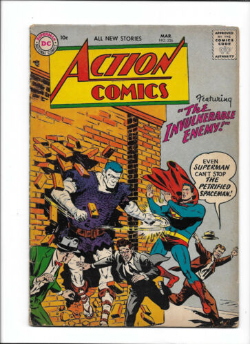 """ACTION COMICS #226 [1956 VG-FN] """"THE INVULNERABLE ENEMY!"""""""