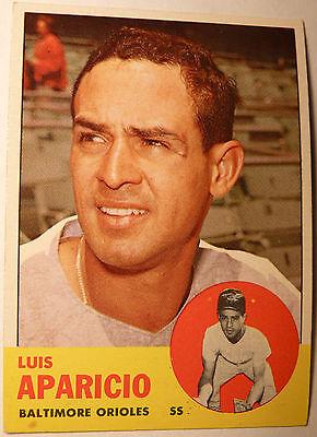 1963 Topps # 205 EX+ 52 yr old LUIS APARICO Baseball Card ORIOLES WHITE SOX HOF