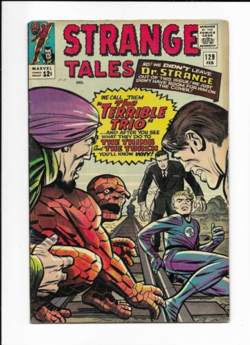 STRANGE TALES #129 ==> FN TERRIBLE TRIO MARVEL COMICS 1965